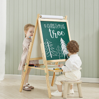 babycare儿童双面磁性小黑板家用画画涂鸦写字画板升降支架式画架