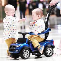 儿童电动车四轮汽车可坐人宝宝玩具车子1-3岁脚踏滑行溜溜手推车zf10