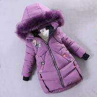 女童棉衣外套2018新款韩版童装中长款洋气儿童中大童冬装潮