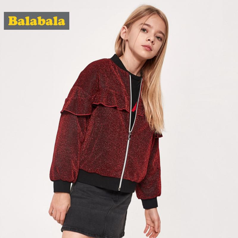 【满减参考价:93.3】巴拉巴拉女童棉服儿童棉衣新款春季童装外套中大童棉袄新年潮