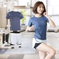 休闲运动短裤女士夏季薄速干跑步高腰瑜伽健身热裤防走光