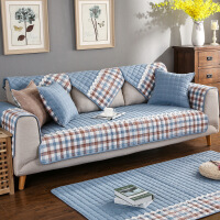 新品全棉组合沙发垫子布艺简约现代防滑皮沙发坐垫棉垫四季通用