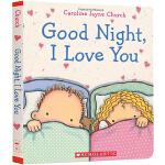 英文原版绘本儿童书 Good Night I Love You 晚安我的宝贝 精装纸板书 Caroline Jayne