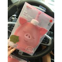 【好货】女软儿童硅胶斜挎心形水壶爱心小猪可背便携熊猫水杯折叠水袋