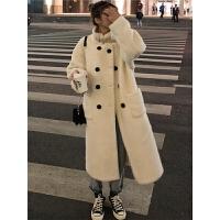 秋冬季2018新款女装韩版仿羊羔毛加厚中长款棉衣外套棉袄学生