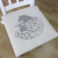 坐垫办公室透气餐椅垫可拆洗凳子榻榻米防滑沙发椅子座垫加厚夏季