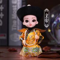 京剧人偶娃娃 北京绢人纪念品中国风特色礼品送老外脸谱摆件
