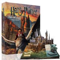 进口英文原版 Harry Potter Pop up book 哈利波特立体书英文版 3D立体书 3D手工剪纸书