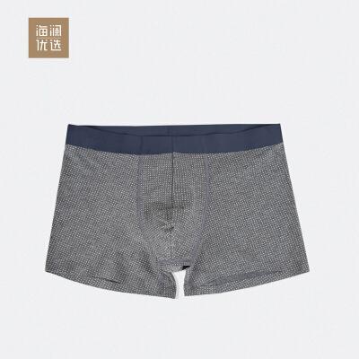 棉质印花圆点男士内裤舒适透气不紧绷平角短裤海澜优选平角裤型 柔软透气 印花圆点 潮流时尚