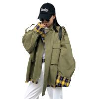 秋冬新款韩版女学生外套bf宽松工装港风中长款长袖休闲风衣外套女
