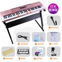 儿童电子琴61键初学者入门女孩多功能钢琴3-6-12岁专业音乐玩具88生日礼物