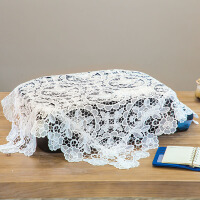 20190411064518375打印机盖布小茶具防尘布传真机电脑蕾丝防尘罩一体复印机防尘罩布