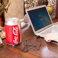车载可乐桶USB冰箱USB宿舍制冷器冷藏USB车载冰箱两用迷你小冰箱