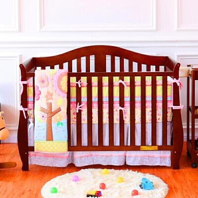 婴儿床实木 出口美国欧式美式双胞胎宝宝床zf08