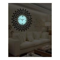 时尚挂钟静音 久久达创意钟表装饰铁艺挂钟客厅金属静音石英壁钟 1301-70cm夜光