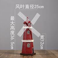 创意复古荷兰风车模型摆设酒柜电视柜小摆件家居客厅装饰品钱罐_红色