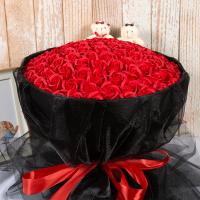 99朵七夕情人浪漫生日礼物女生创意肥皂永生玫瑰香皂花束心形礼盒