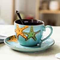 咖啡杯欧式奢华陶瓷英式下午茶杯子ins风咖啡杯碟套装家用