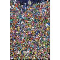 木质拼图300/500/1000片减压玩具动漫宠物小精灵 1000片分区送大图-图1 宠物小精灵