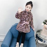 女童外套冬装2018新款韩版童装小女孩加厚上衣中长款儿童毛毛衣潮