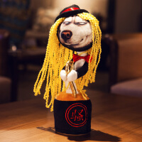 六一儿童节520抖音网红同款二哈毛绒玩具哈士奇创意搞笑小狗娃娃玩偶搞怪可爱520礼物母亲节