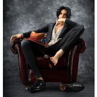 海贼王手办pop沙发艾斯萨博山治索隆坐姿路飞动漫模型公仔摆件