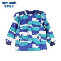 蒙蒙摩米男童宝宝长袖外套冬装新品中长款儿童羽绒服保暖外套