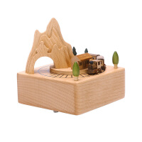 生日礼物 木质音乐盒 女生旋转木马儿童结婚闺蜜创意礼品天空之城