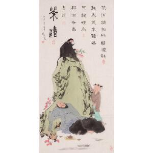 风流小童《茶道》1花鸟 大尺幅 国画 精品 装饰 送人字画的佳品