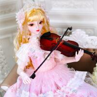 【2件5折】芭比娃娃 新年礼物 精品 德必胜娃娃梦童话系列60cm 26关节3分娃仿真玩具女孩公主礼物bjd换装 艾琳