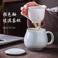 景德�茶杯陶瓷�^�V杯茶水分�x�k公室泡茶杯子���w�R克杯家用水杯