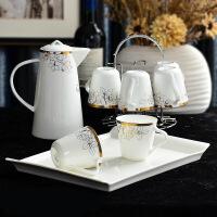 茶杯套装 家用杯具 客厅北欧式茶具茶壶杯子水杯整套杯 简约陶瓷水具