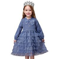 女童�B衣裙春秋洋��和��b春�b小女孩蓬蓬�公主裙子