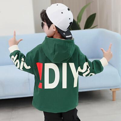 男童秋款中大童韩版外套运动夹克2019新款儿童洋气时尚风衣