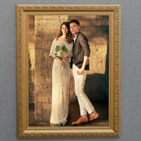 实木相框欧式实木相框挂墙照片框12 18 24 30 36寸婚纱照片相框拼图框画