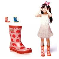 儿童雨靴卡通小象雨鞋男孩男童雨鞋女孩儿童雨靴水鞋套鞋