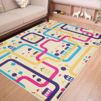 儿童地毯定制公主宝宝爬行垫儿童房床边毯客厅卧室益智可机洗