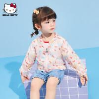 【抢购价:33元】hellokitty女童皮肤衣2021夏季新款时尚外套婴儿宝宝儿童装防晒衣