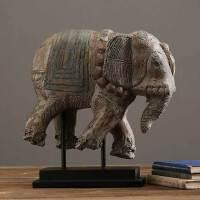 装饰品摆件创意客厅酒柜摆设家居饰品树脂工艺品复古北欧树脂大象摆件