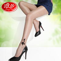 秋冬新品浪莎丝袜 假刺青日系纹身袜连裤丝袜 女士超薄丝袜时尚提花袜 打底裤