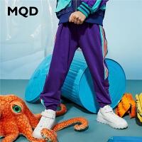 【2件3折:129】MQD童装男童长裤20春秋新款中大童韩版纯棉运动裤儿童条纹针织裤