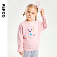 【2件3折秋冬装:53.4】小猪班纳童装女童卫衣2021冬季新款宝宝长袖上衣儿童卡通保暖衣服