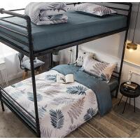 09单人床10学生宿舍纯棉12床单被套三件套1米2床被罩枕套 0.9-1.2米单人床 三件套(被套155x210