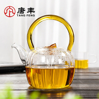 唐丰玻璃茶壶耐高温提梁带盖煮水果茶壶花茶壶加热家用下午茶茶具