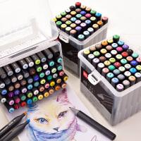 得力马克笔套装36色24色儿童用粗细双头手绘笔48色60色礼盒小学生初学者手绘套装动漫室内漫画服装景观设计笔