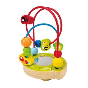 德国Hape 宝宝花园 益智玩具 智力开发 创意串珠绕珠绕线珠 E8031