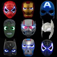 厂价直销 超人儿童动漫卡通面具 蜘蛛侠玩具发光带灯 黑色