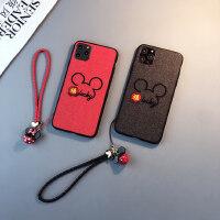 刺绣福鼠款iphone11pro手机壳苹果6s/7/8plus情侣xsmax中国风xr女2020新年鼠年红色卡通六七八套