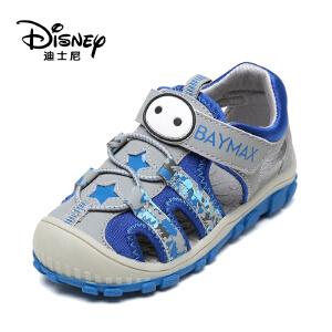【达芙妮超品日 2件3折】Disney/迪士尼夏季大白休闲男童包头魔术贴儿童凉鞋