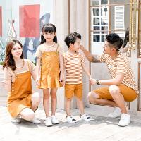 新款一家四口母女亲子装母子裙装洋气2019新款潮亲子装夏装全家装